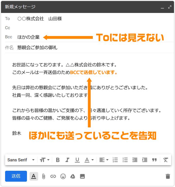 メール cc 書き方